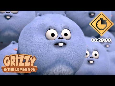 Top Des Véhicules Les Plus Drôles De Grizzy // 20 Minutes De Grizzy & Les Lemmings