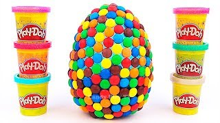 Huge M&M's Surprise Egg with Alphabet   Learn The Alphabet from A to Z  ABC Party for kids