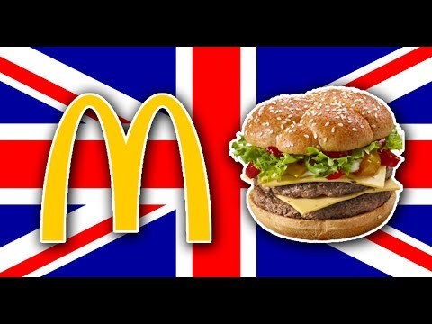 Trying British McDonald's (London, England)