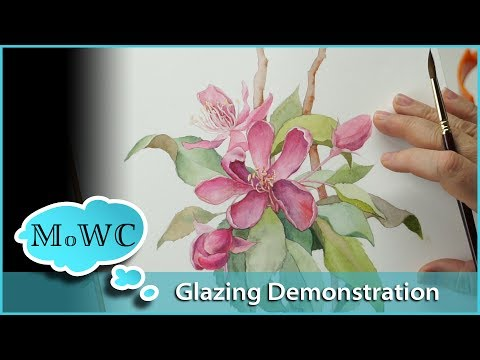 Using Watercolor Glazing Techniques – Floral Botanical