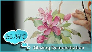 Gambar cover Using Watercolor Glazing Techniques – Floral Botanical