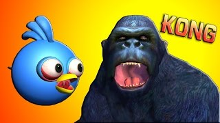 KONG : Skull Island w/ ANGRY BIRDS  ♫  3D animated  movie mashup ☺ FunVideoTV - Style ;-))