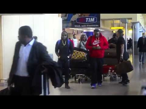 DAVIDO ARRIVES IN NEW YORK CITY WITH HKN GANG