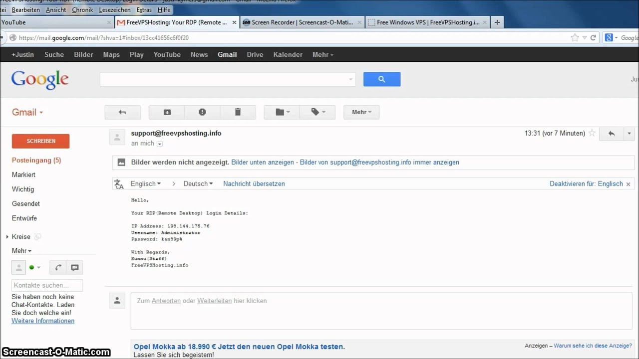 Free Windows Vps Server Youtube