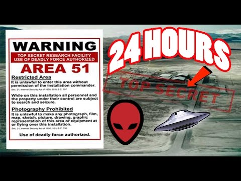 (ALMOST DIED) 24 HOUR OVERNIGHT in AREA 51 GONE WRONG | OVER
