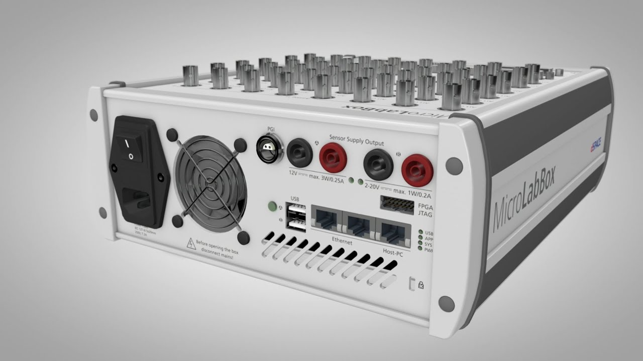 Dspace Microlabbox Compact Power In The Lab Youtube Mic Preamplifier Electronicslab