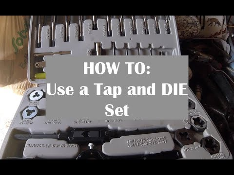 HOW TO Use a Tap and Die Set - 3 EASY STEPS - YouTube