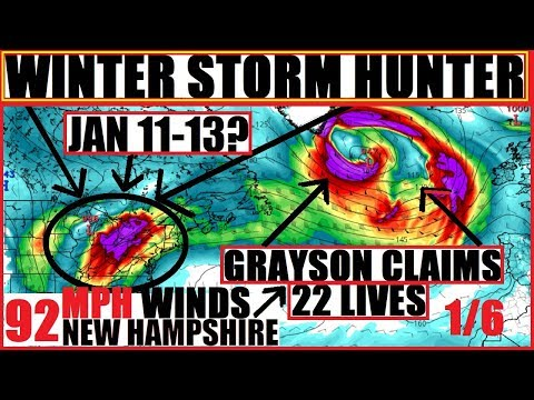 """*WOW* WINTER Storm HUNTER to Follow GRAYSON SO much for a """"Mild Winter"""" Lake Effect Issues to come"""