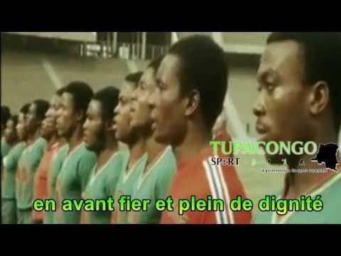 Finale de la can 1974 les léopards chantent la Zaïroise