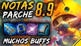 NOTAS del PARCHE 8.9 | Noticias League Of Legends Jota LoL