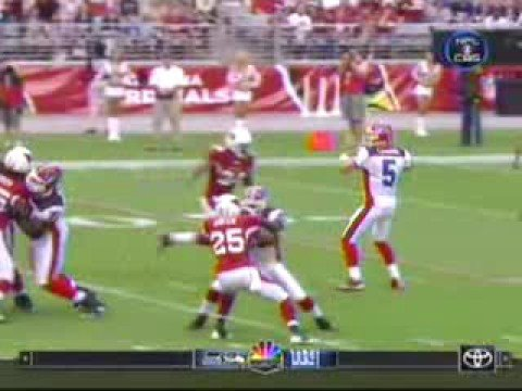Trent Edwards gets hit by Adrian Wilson