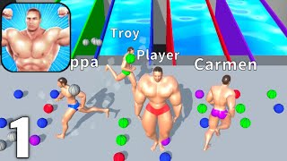 Muscle Race 3D - Gameplay Walkthrough Part 1 All Levels 1-12 (Android & iOS) screenshot 3