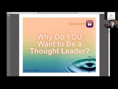 """Emerge America Webinar Series: """"Are You Ready to Be a Thought Leader?"""" with Denise Brosseau"""