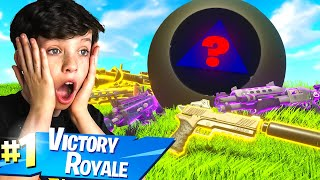 My Little Brother Used a Magic 8 Ball to WIN in Fortnite!
