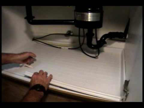 Driptite Sink U0026 Vanity Base Protector Install Video   YouTube
