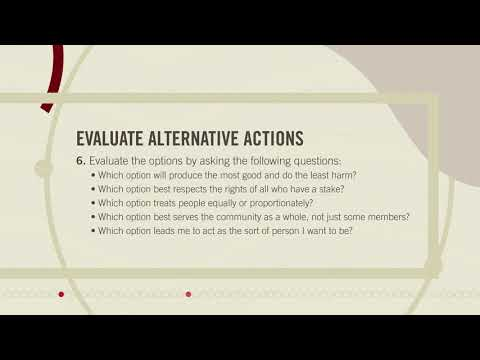 A Framework for Ethical Decision Making - YouTube