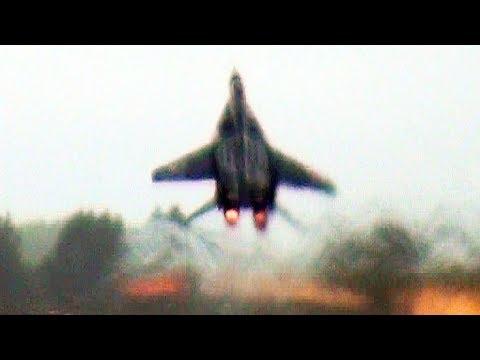 Incredible MiG-29 Fulcrum Sick Bag Takeoff.