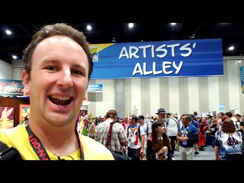 San Diego Comic Con 2018 Artists Alley and Small Booths LIVE