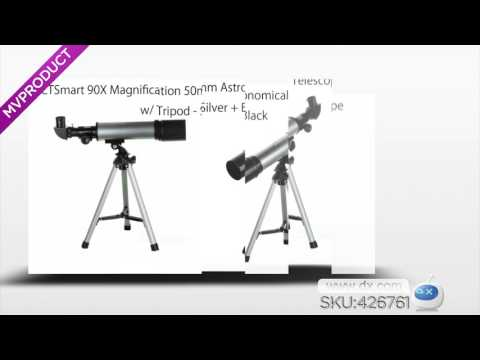 DX:CTSmart 90X Magnification 50mm Astronomical Telescope w/ Tripod - Silver + Black