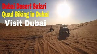Dubai Visit | Quad Bike Experience at Dubai Desert Safari | Travel Vlogs