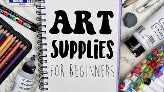 The BEST Art Supplies for Beginners! (2019) My favorite art supplies!