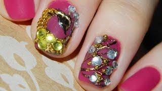 Дизайн ногтей гель-лаком | Матовый маникюр | Литье, инкрустация
