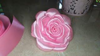 DIY Tutorial membuat bunga mawar dari pita satin