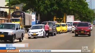 Escasez de gasolina provoca largas filas de vehículos en estaciones de Cúcuta