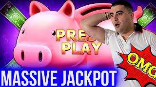 High Limit PIGGY BANKIN Full Screen HUGE JACKPOT   Winning Mega Bucks On Slot   SE-3