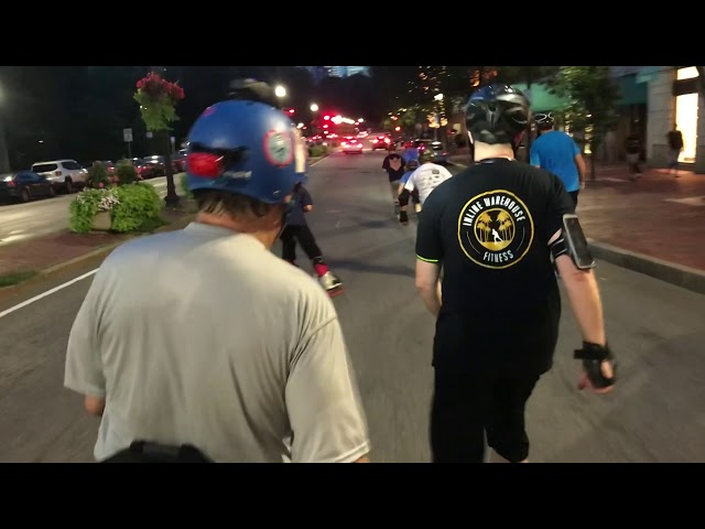 The Boston Rollerblade 10K Challenge and Tuesday Night City Skate
