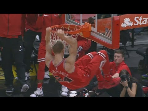 Lauri Markkanen Clutch 3! Bulls 1st Win of Season! Hawks vs Bulls 2017-18 Season