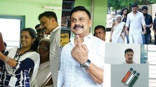 വോട്ട് ചെയ്യാൻ എത്തിയ ദിലീപിനെ കണ്ടപ്പോൾ സെൽഫി എടുക്കാൻ പൂതിയുമായ് പോളിങ് ഓഫീസർ !! Dileep Vote