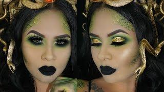 MEDUSA HALLOWEEN MAKEUP TUTORIAL + HOW TO SNAKE SCALES
