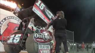 2015 World of Outlaws Victory Lane at Eldora Speedway on May 8