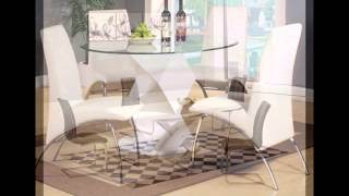 Glass Dining Table And 6 Chairs
