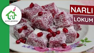 omegranate Turkish Delight Recipe, How to make Pomegranate Turkish Delight