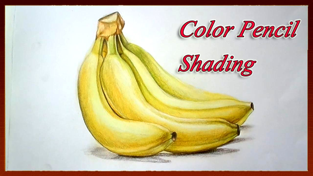 Realistic Color Pencil Drawing Tutorial How To Draw Fruits Easy