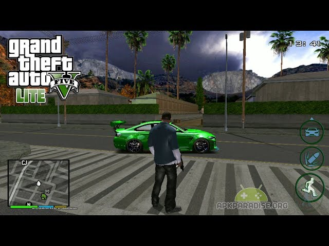 HOW TO DOWNLOAD GTA V ON ANDROID LITE (90 MB) + GAMEPLAY | GamerHow