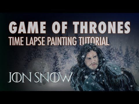 Jon Snow Game of Thrones Time Lapse Painting Tutorial thumbnail