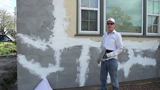 stucco acrylic fine or smooth finish image by La Habra feathering stucco transitions in better