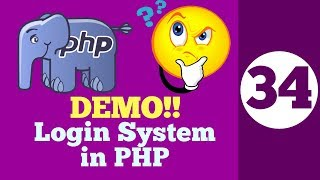 34-Make a DEMO Login System in PHP HINDI 2018