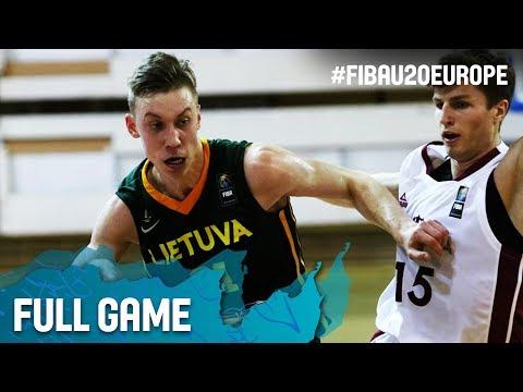 Latvia v Lithuania - Full Game - FIBA U20 European Championship 2017