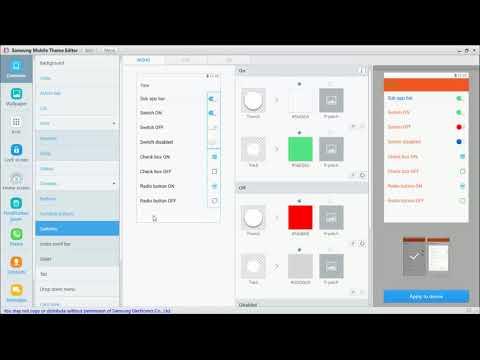 samsung theme editor - YouTube