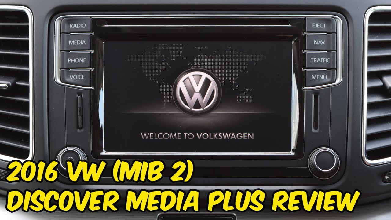 volkswagen discover media plus mib2 system review youtube. Black Bedroom Furniture Sets. Home Design Ideas