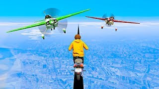 PLANES vs. SCOOTERS! (GTA 5 Funny Moments)