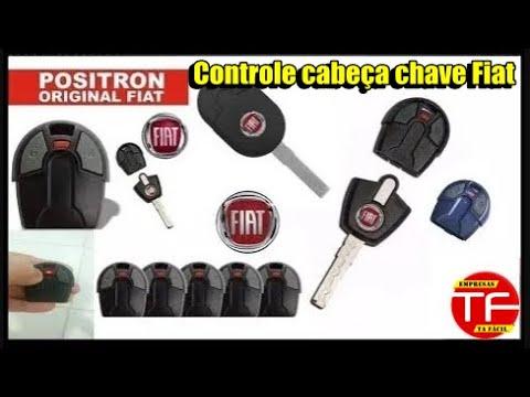 Controle de alarme na chave Original da linha Fiat
