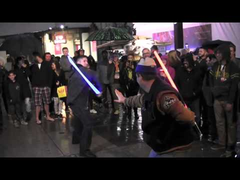 Ray Park Hangs Out & Challenges  to Lightsaber DuelsChinese Theatre