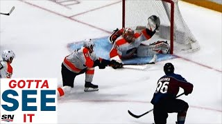 GOTTA SEE IT: Carter Hart's Glove Save On Mikko Rantanen A Save-Of-The-Year Candidate