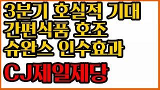 CJ제일제당, 날아오르는 가공식품 효과 3분기 실적 기…