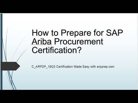Latest Questions Answers And Study Guide For Sap Ariba P2p Certification Exam